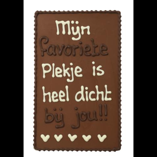 Bonvanie chocolade Mijn favoriete plekje is heel dicht bij jou! - Chocoladeplakkaat