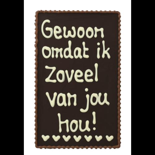 Bonvanie chocolade Gewoon, omdat ik zoveel van je hou! - Chocoladeplakkaat