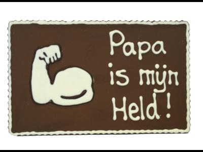 Bonvanie chocolade Papa is mijn held - Chocoladeplakkaat