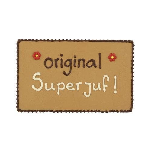 Bonvanie chocolade Orginal superjuf - Chocoladeplakkaat