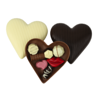 Gevuld chocoladehart klein