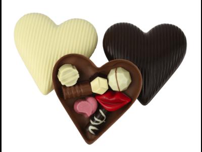 Bonvanie chocolade Gevuld chocoladehart klein