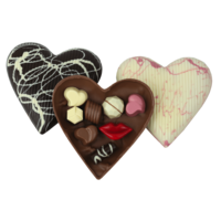 Gevuld chocoladehart groot