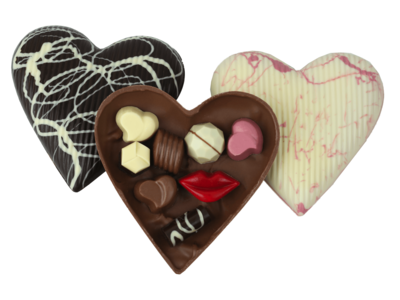 Bonvanie chocolade Gevuld chocoladehart groot