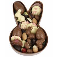 Chocolade paashaas schaal gevuld