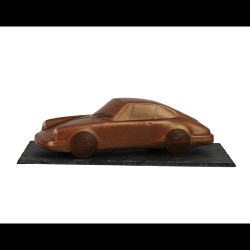 Bonvanie chocolade Porsche  van chocolade op leisteen