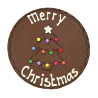 Merry christmas - Rond chocoladeplakkaat