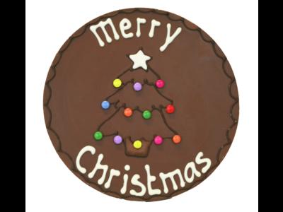 Bonvanie chocolade Merry christmas - Rond chocoladeplakkaat