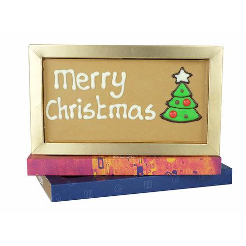 Bonvanie chocolade Merry Christmas - Chocoladereep met tekst