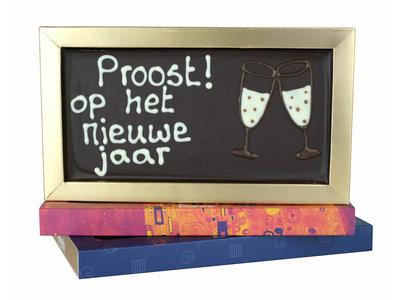 Bonvanie chocolade Proost op het nieuwe jaar - Chocoladereep met tekst