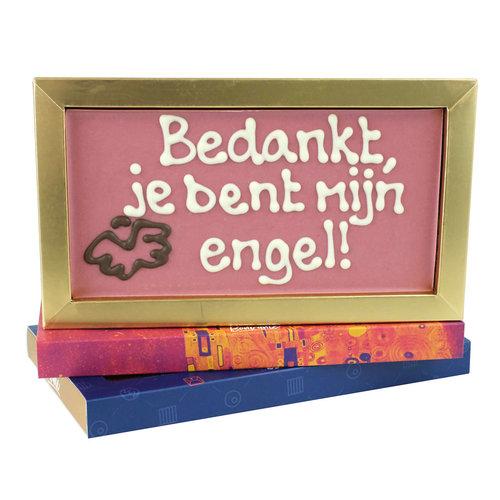 Bonvanie chocolade Bedankt, je bent mijn engel!- Chocoladereep met tekst