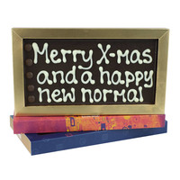 Merry X-mas and a happy new normal - Chocoladereep met tekst