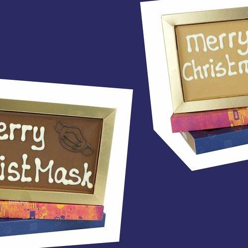 Kerstkaarten van chocolade