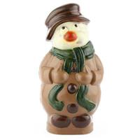 3D Chocolade sneeuwman groot