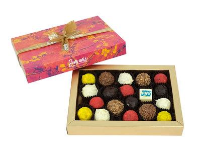 Bonvanie chocolade Brievenbus-truffels met logobonbon