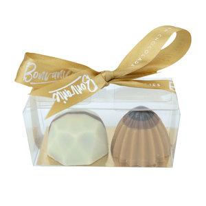 Bonvanie chocolade Twee bonbons in mini doosje