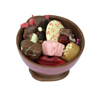 Bonbonniere met liefde-chocolade