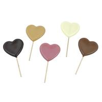 Hartenlolly van chocolade