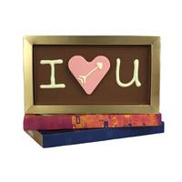 I love you chocoladereep met chocoladehart - Chocoladereep met tekst