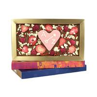 Fruit explosion chocoladereep met hart van chocolade