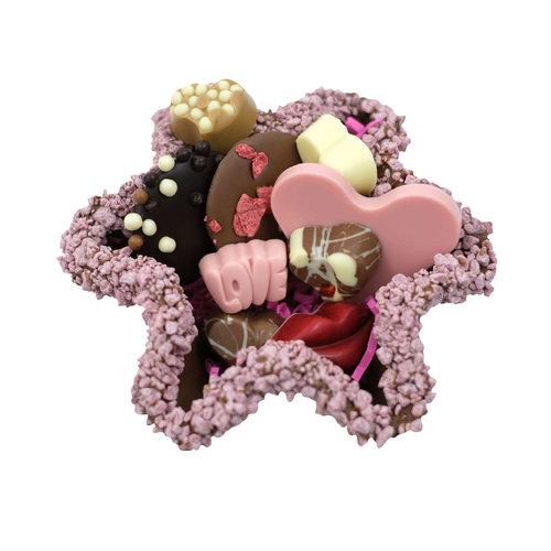 Bonvanie chocolade Tuille bakje met liefde-chocolade