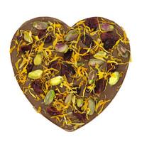 'Een gouden combinatie' chocoladehart