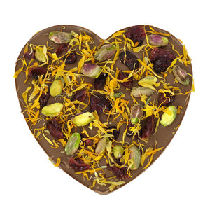 Bonvanie chocolade 'Een gouden combinatie' chocoladehart