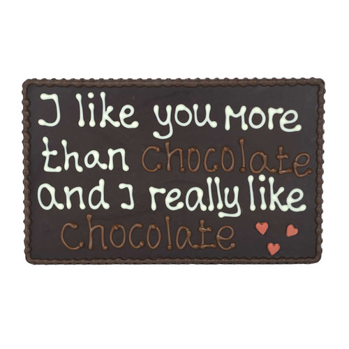 Bonvanie chocolade  I like you more than chocolate - Chocoladeplakkaat