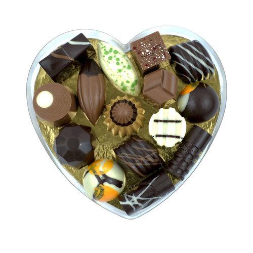 Bonvanie chocolade Ambachteljke bonbons in hartendoos