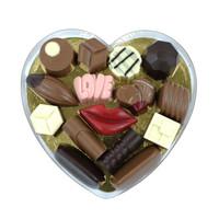 Bonbons en liefdesbonbons in hartendoos