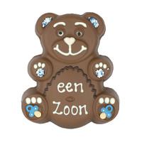 Chocolade teddybeer met tekst