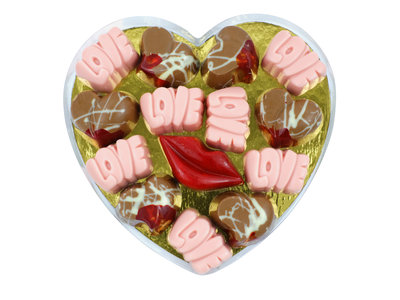 Bonvanie chocolade Love bonbons in hartendoos