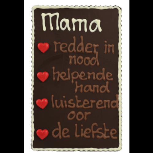 Bonvanie chocolade Mama, redder in nood - Chocoladeplakkaat met tekst