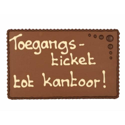 Bonvanie chocolade Toegangsticket tot kantoor - Chocoladeplakkaat