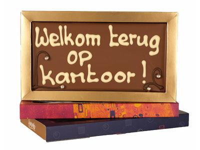 Bonvanie chocolade Welkom terug op kantoor! - Chocoladereep met tekst
