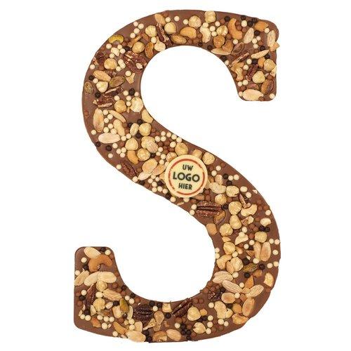 Bonvanie chocolade Luxe XXL Chocoladeletter met logo