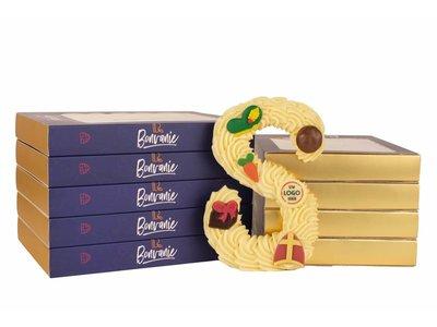 Bonvanie chocolade Gespoten chocoladeletter met logo
