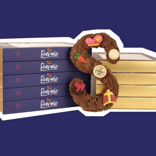Luxe chocoladeletters met LOGO