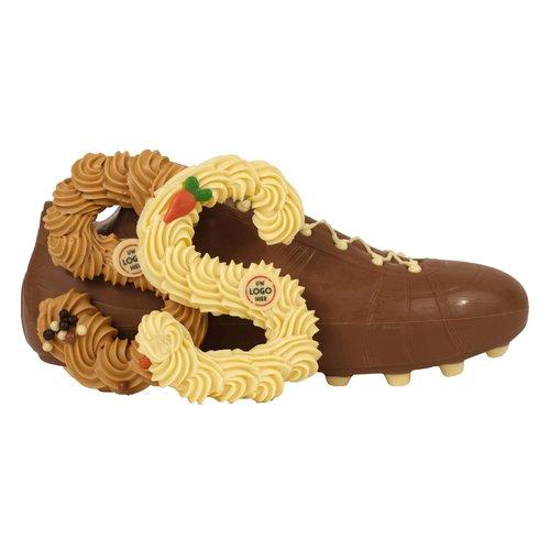 Bonvanie chocolade Handgespoten chocoladeletter met logo voor in de schoen