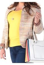 Veste chinée jaune