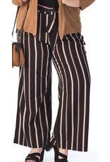 Pantalon fluide ligné