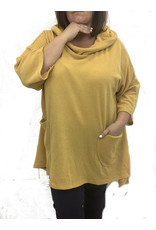 Pull moutarde oversize confort