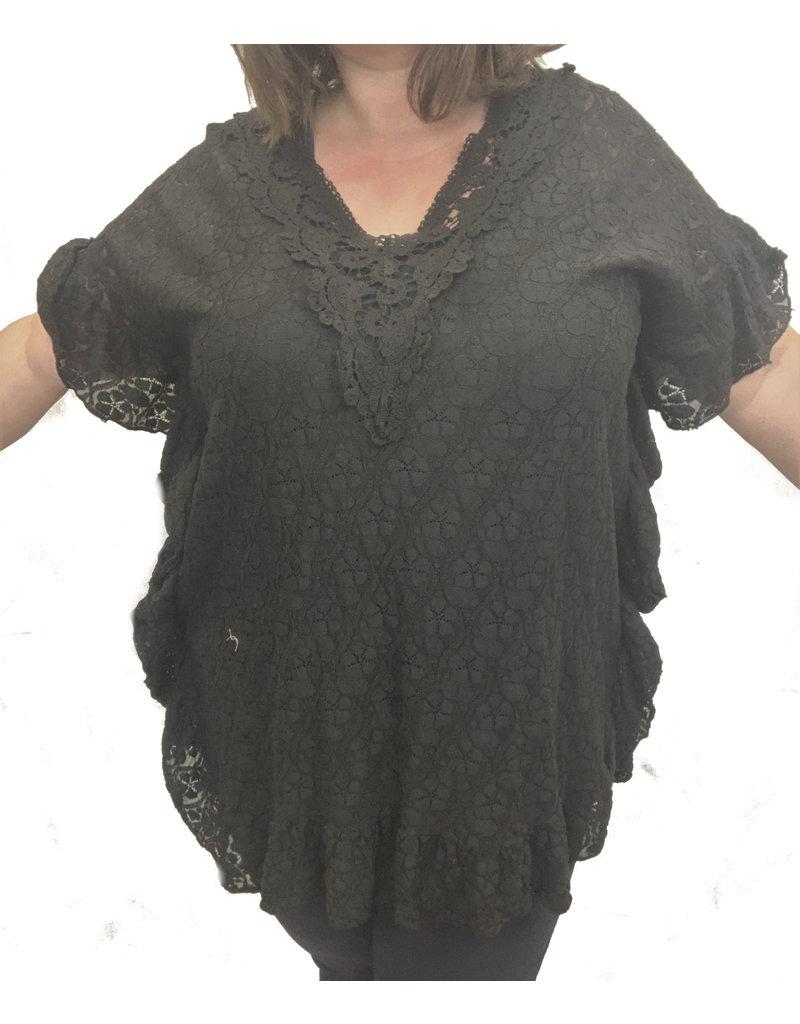 Tunique dentelle noire