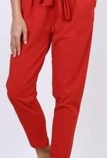 EMB Pantalon ceinture Rouge