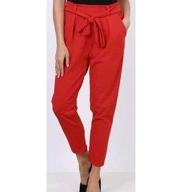 Pantalon ceinture Rouge