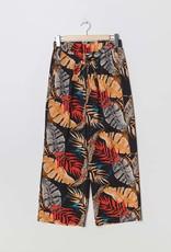 Pantalon fleuri orange