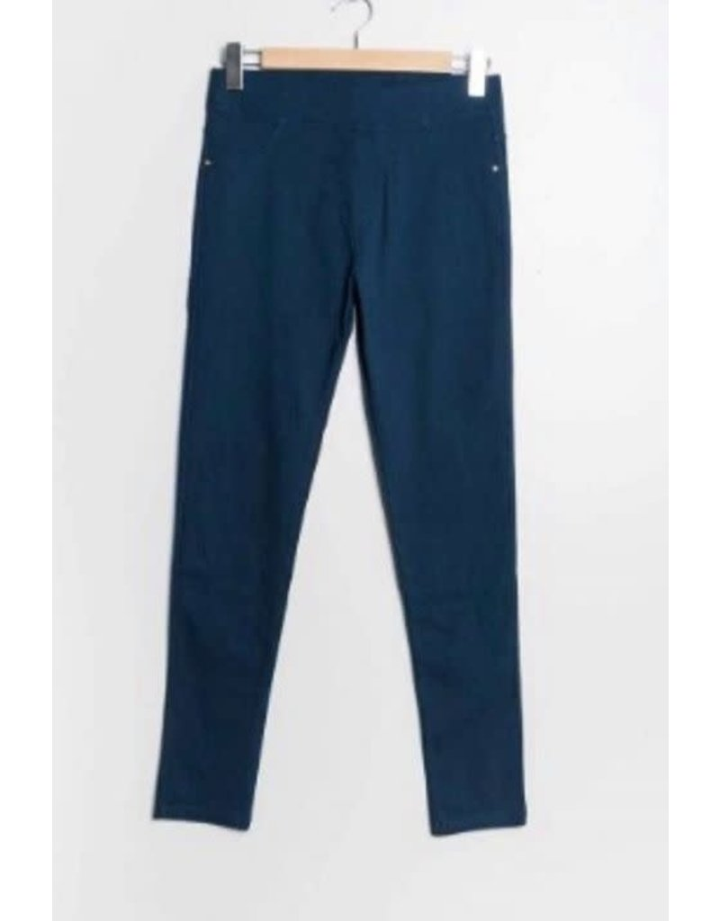 Pantalon slim CHRISTY bleu canard