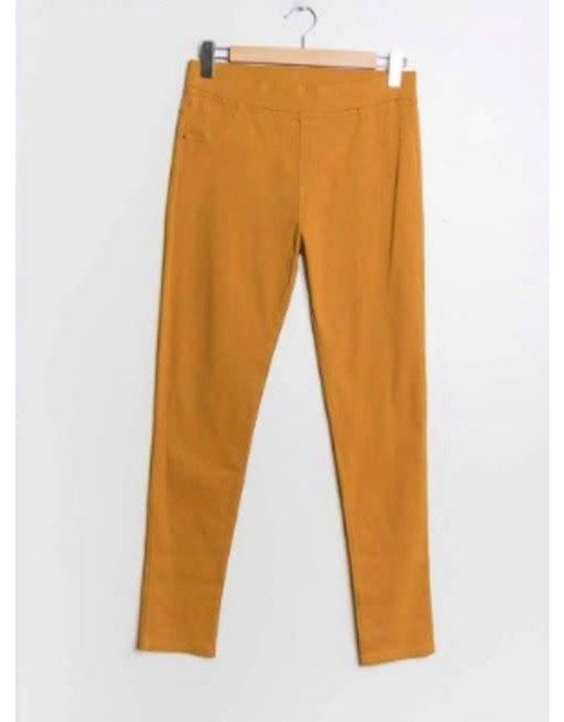 Pantalon slim CHRISTY moutarde