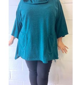 Pull petrole oversize confort