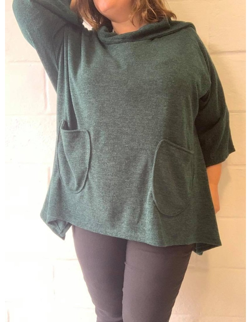 Pull vert sapin oversize confort